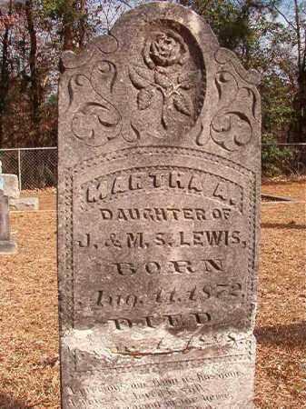 LEWIS, MARTHA A - Columbia County, Arkansas | MARTHA A LEWIS - Arkansas Gravestone Photos