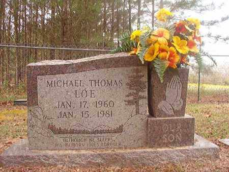 LOE, MICHAEL THOMAS - Columbia County, Arkansas   MICHAEL THOMAS LOE - Arkansas Gravestone Photos
