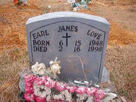 LOVE, EARL JAMES - Columbia County, Arkansas | EARL JAMES LOVE - Arkansas Gravestone Photos