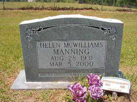 MCWILLIAMS MANNING, HELEN - Columbia County, Arkansas | HELEN MCWILLIAMS MANNING - Arkansas Gravestone Photos