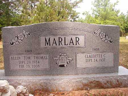 "MARLAR, ALLEN THOMAS ""TOM"" - Columbia County, Arkansas | ALLEN THOMAS ""TOM"" MARLAR - Arkansas Gravestone Photos"