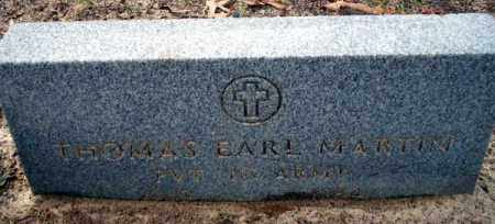 MARTIN (VETERAN), THOMAS EARL - Columbia County, Arkansas | THOMAS EARL MARTIN (VETERAN) - Arkansas Gravestone Photos
