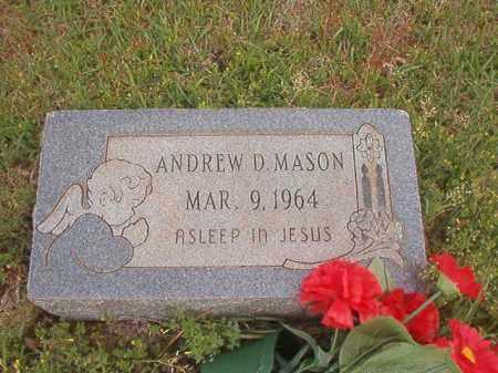 MASON, ANDREW D - Columbia County, Arkansas   ANDREW D MASON - Arkansas Gravestone Photos