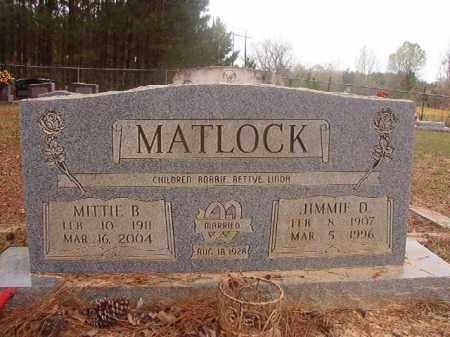 MATLOCK, JIMMIE D - Columbia County, Arkansas | JIMMIE D MATLOCK - Arkansas Gravestone Photos