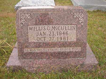 MCCULLIN, WILLIS G - Columbia County, Arkansas | WILLIS G MCCULLIN - Arkansas Gravestone Photos