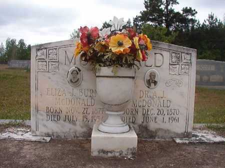 BURNS MCDONALD, ELIZA J - Columbia County, Arkansas | ELIZA J BURNS MCDONALD - Arkansas Gravestone Photos
