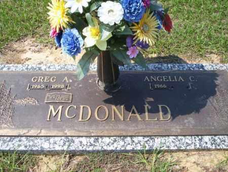 MCDONALD, GREG A - Columbia County, Arkansas | GREG A MCDONALD - Arkansas Gravestone Photos