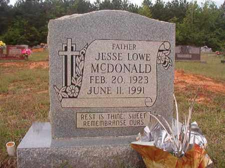 MCDONALD, JESSE LOWE - Columbia County, Arkansas | JESSE LOWE MCDONALD - Arkansas Gravestone Photos