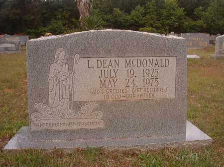 MCDONALD, L DEAN - Columbia County, Arkansas | L DEAN MCDONALD - Arkansas Gravestone Photos