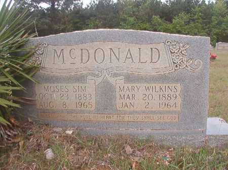 MCDONALD, MOSES SIM - Columbia County, Arkansas | MOSES SIM MCDONALD - Arkansas Gravestone Photos