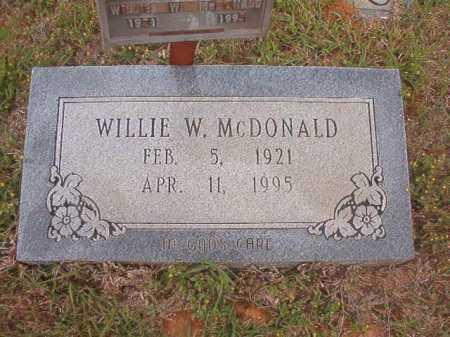 MCDONALD, WILLIE W - Columbia County, Arkansas | WILLIE W MCDONALD - Arkansas Gravestone Photos