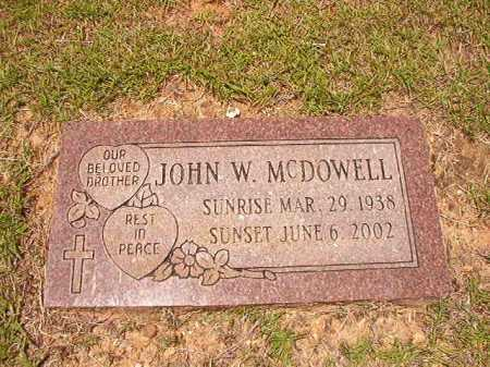 MCDOWELL, JOHN W - Columbia County, Arkansas   JOHN W MCDOWELL - Arkansas Gravestone Photos