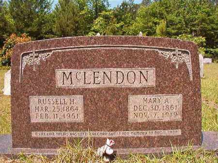 MCLENDON, MARY A - Columbia County, Arkansas | MARY A MCLENDON - Arkansas Gravestone Photos