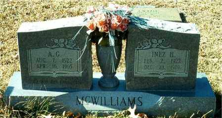 MCWILLIAMS, A. G. - Columbia County, Arkansas | A. G. MCWILLIAMS - Arkansas Gravestone Photos