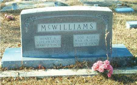 MCWILLIAMS, HENRY A. - Columbia County, Arkansas | HENRY A. MCWILLIAMS - Arkansas Gravestone Photos