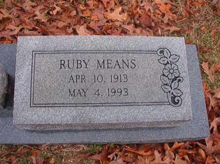 MEANS, RUBY - Columbia County, Arkansas | RUBY MEANS - Arkansas Gravestone Photos