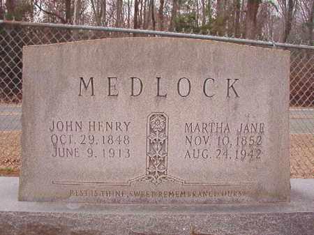 MEDLOCK, MARTHA JANE - Columbia County, Arkansas   MARTHA JANE MEDLOCK - Arkansas Gravestone Photos