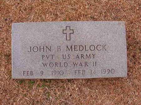 MEDLOCK (VETERAN WWII), JOHN B - Columbia County, Arkansas   JOHN B MEDLOCK (VETERAN WWII) - Arkansas Gravestone Photos
