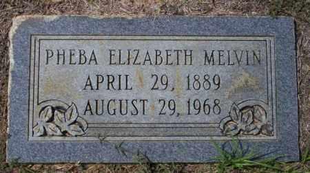 MELVIN, PHEBA ELIZABETH - Columbia County, Arkansas   PHEBA ELIZABETH MELVIN - Arkansas Gravestone Photos