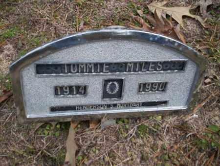 MILES, TOMMIE - Columbia County, Arkansas | TOMMIE MILES - Arkansas Gravestone Photos