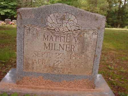 MILNER, MATTIE V - Columbia County, Arkansas   MATTIE V MILNER - Arkansas Gravestone Photos