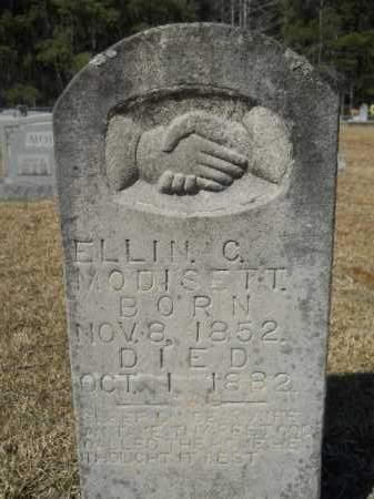 MODISETT, ELLIN C - Columbia County, Arkansas | ELLIN C MODISETT - Arkansas Gravestone Photos