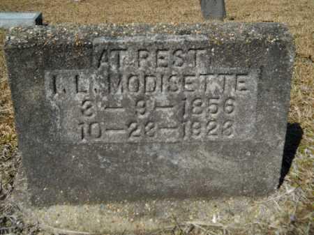 MODISETTE, I L - Columbia County, Arkansas | I L MODISETTE - Arkansas Gravestone Photos