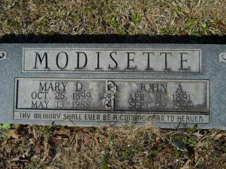 MODISETTE, MARY D - Columbia County, Arkansas   MARY D MODISETTE - Arkansas Gravestone Photos