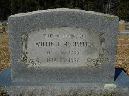 MODISETTE, WILLIE J - Columbia County, Arkansas   WILLIE J MODISETTE - Arkansas Gravestone Photos