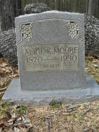 MOORE, ALICE K - Columbia County, Arkansas | ALICE K MOORE - Arkansas Gravestone Photos