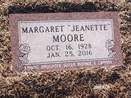 """MOORE, MARGARET """"JEANETTE"""" - Columbia County, Arkansas   MARGARET """"JEANETTE"""" MOORE - Arkansas Gravestone Photos"""