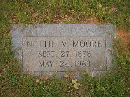 MOORE, NETTIE V - Columbia County, Arkansas | NETTIE V MOORE - Arkansas Gravestone Photos