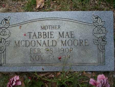 MOORE, TABBIE MAE - Columbia County, Arkansas | TABBIE MAE MOORE - Arkansas Gravestone Photos
