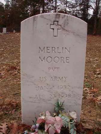 MOORE (VETERAN), MERLIN - Columbia County, Arkansas | MERLIN MOORE (VETERAN) - Arkansas Gravestone Photos