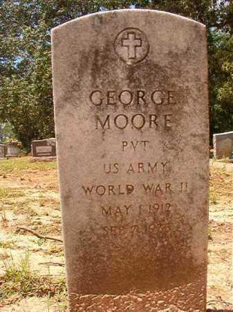 MOORE (VETERAN WWII), GEORGE - Columbia County, Arkansas | GEORGE MOORE (VETERAN WWII) - Arkansas Gravestone Photos