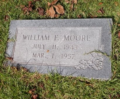 MOORE, WILLIAM F - Columbia County, Arkansas | WILLIAM F MOORE - Arkansas Gravestone Photos
