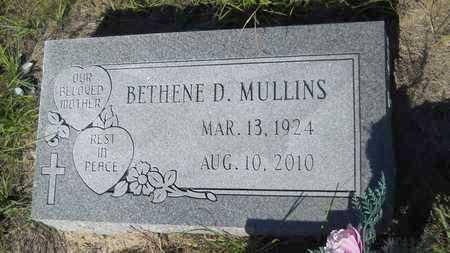 MULLINS, BETHENE D - Columbia County, Arkansas | BETHENE D MULLINS - Arkansas Gravestone Photos