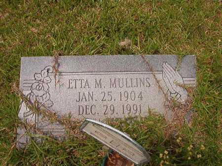 MULLINS, ETTA M - Columbia County, Arkansas | ETTA M MULLINS - Arkansas Gravestone Photos