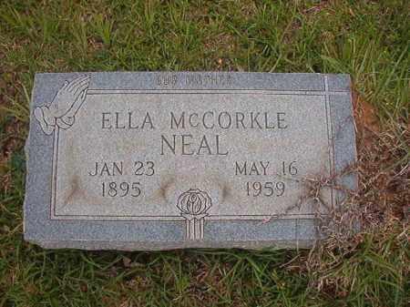 MCCORKLE NEAL, ELLA - Columbia County, Arkansas | ELLA MCCORKLE NEAL - Arkansas Gravestone Photos