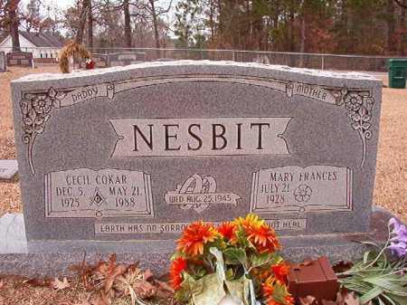NESBIT, CECIL COKAR - Columbia County, Arkansas | CECIL COKAR NESBIT - Arkansas Gravestone Photos
