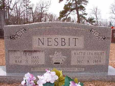 HIGHT NESBIT, MATTIE LEA - Columbia County, Arkansas | MATTIE LEA HIGHT NESBIT - Arkansas Gravestone Photos