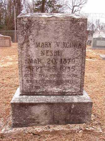 NESBIT, MARY VIRGINIA - Columbia County, Arkansas | MARY VIRGINIA NESBIT - Arkansas Gravestone Photos
