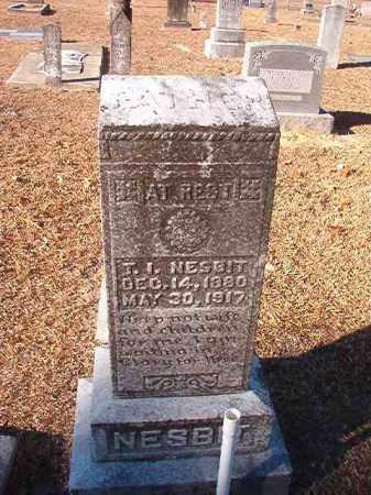 NESBIT, T I - Columbia County, Arkansas | T I NESBIT - Arkansas Gravestone Photos