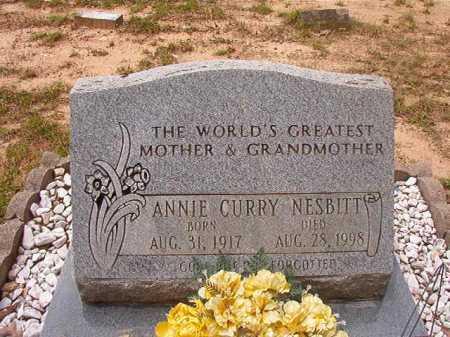 CURRY NESBITT, ANNIE - Columbia County, Arkansas   ANNIE CURRY NESBITT - Arkansas Gravestone Photos