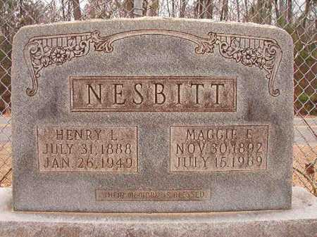 NESBITT, HENRY L - Columbia County, Arkansas   HENRY L NESBITT - Arkansas Gravestone Photos