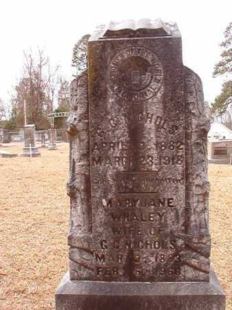 NICHOLS, MARY JANE - Columbia County, Arkansas | MARY JANE NICHOLS - Arkansas Gravestone Photos