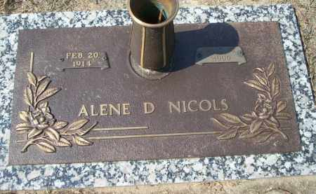 NICOLS, ALENE D - Columbia County, Arkansas   ALENE D NICOLS - Arkansas Gravestone Photos
