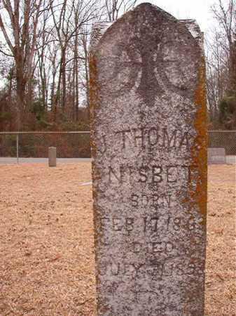 NISBET, J THOMAS - Columbia County, Arkansas | J THOMAS NISBET - Arkansas Gravestone Photos