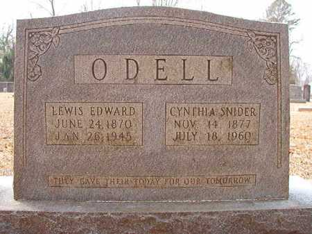SNIDER O'DELL, CYNTHIA - Columbia County, Arkansas | CYNTHIA SNIDER O'DELL - Arkansas Gravestone Photos