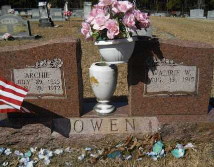 OWEN, ARCHIE - Columbia County, Arkansas   ARCHIE OWEN - Arkansas Gravestone Photos
